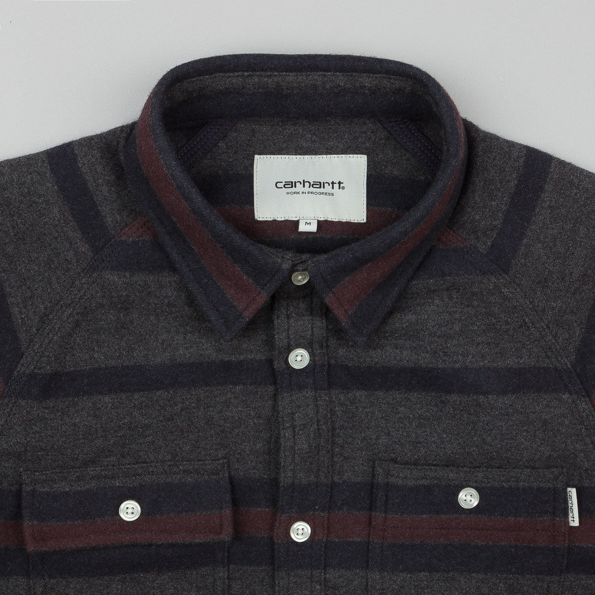 Carhartt Blanket Flannel Long Sleeve Shirt - Dark Navy