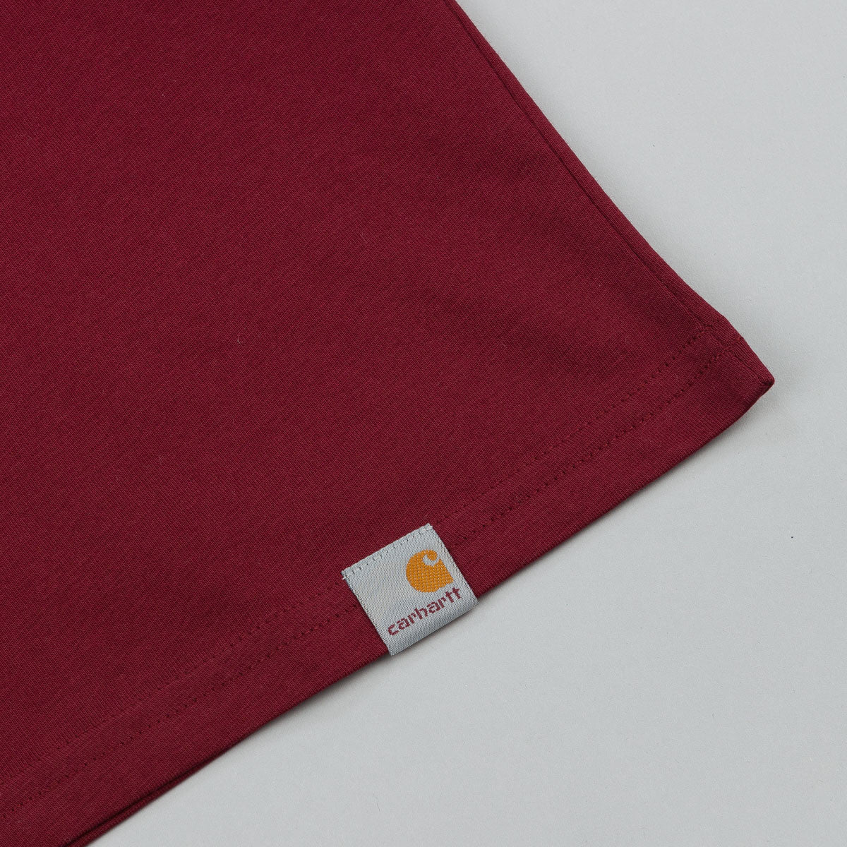 Carhartt Brushed T-Shirt - Cranberry / White