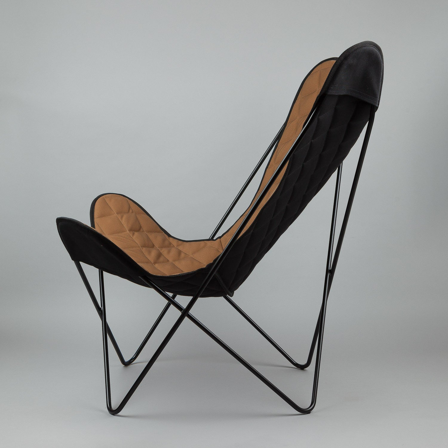 Carhartt Butterfly Chair - Black Steel Frame / Hamilton Brown Canvas
