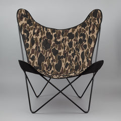 Carhartt Butterfly Chair - Black Metal Frame / Multicolour Camo Canvas
