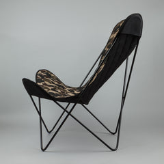 Carhartt Butterfly Chair - Black Steel Frame / Multicolour Camo Canvas