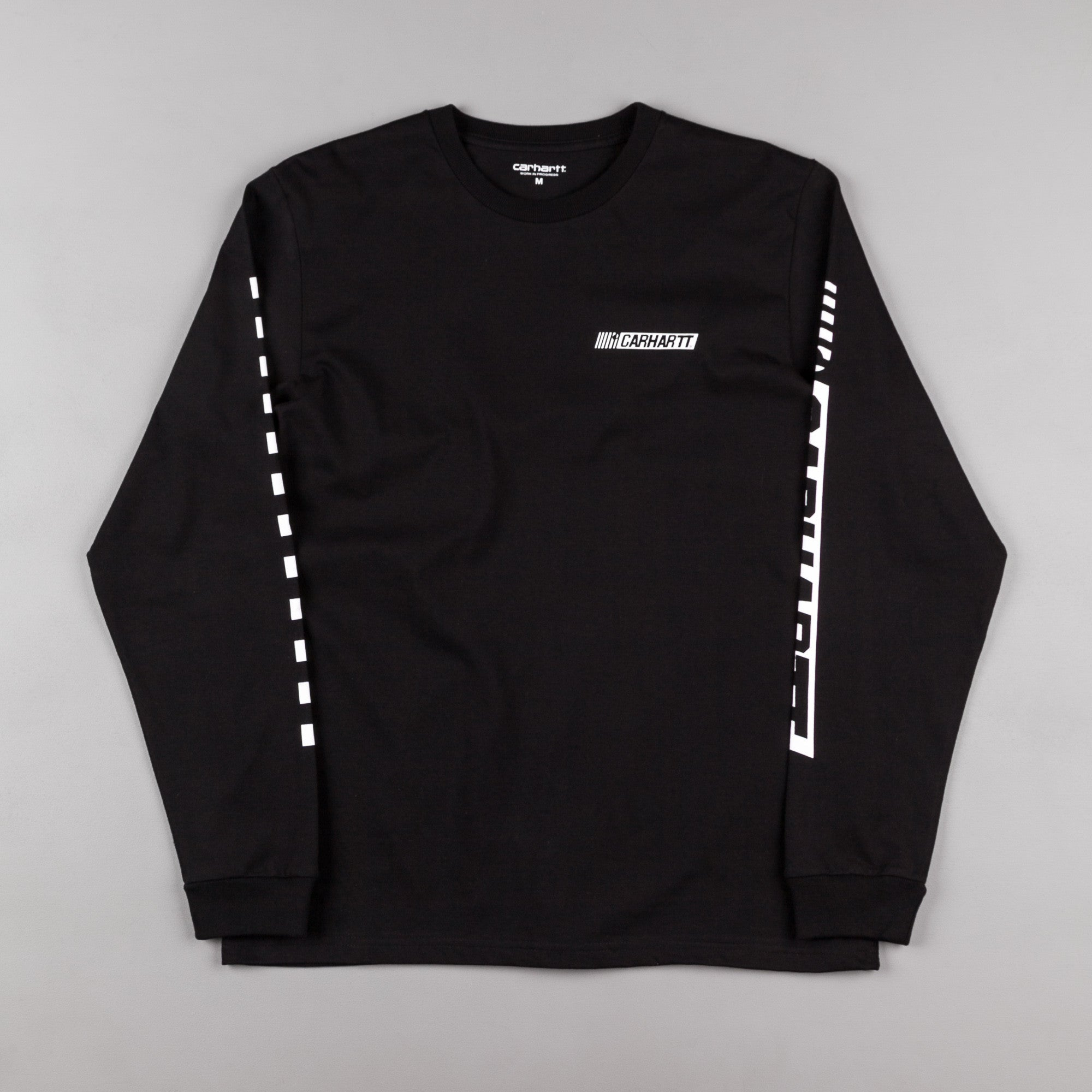 Carhartt Cart Long Sleeve T-Shirt - Black / White