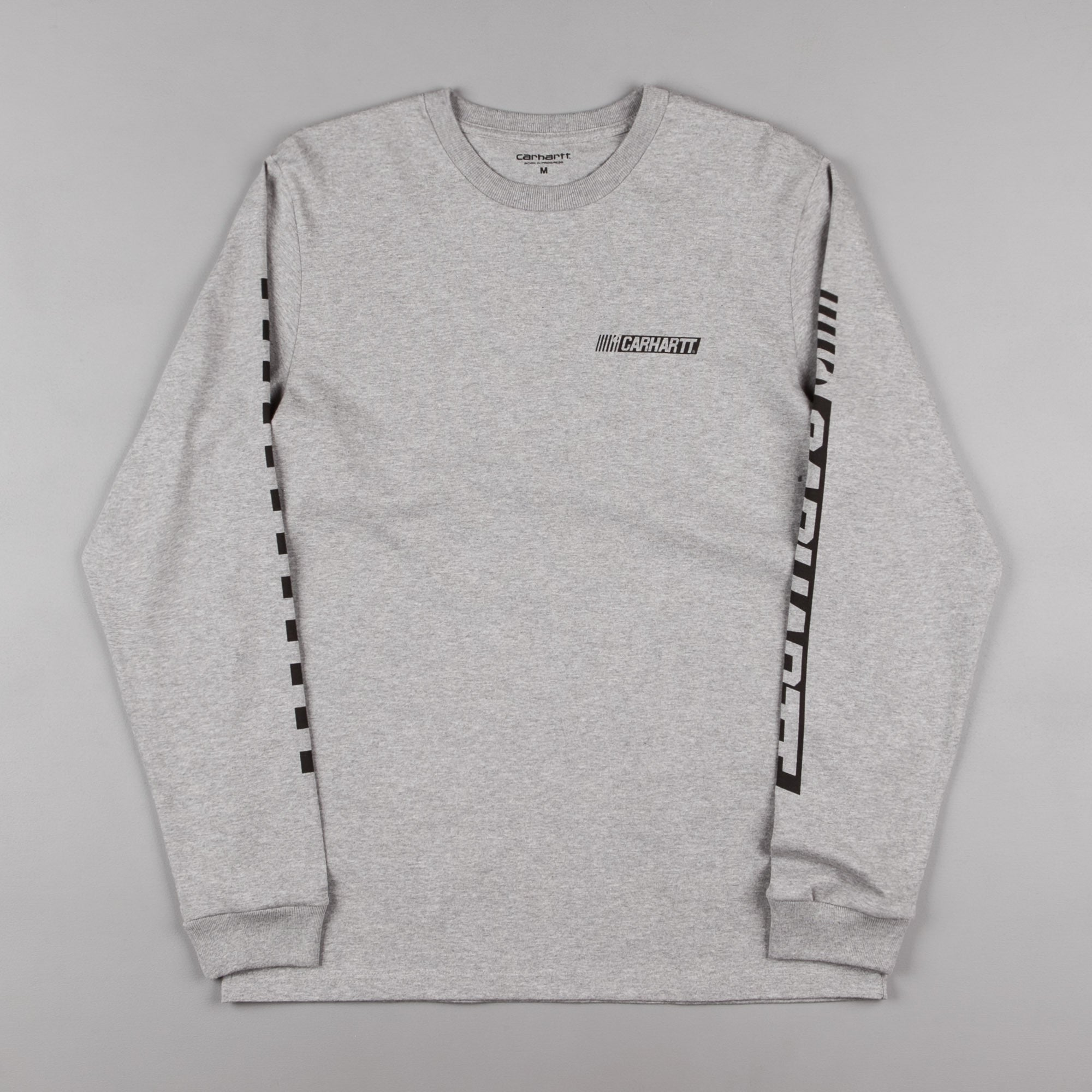 Carhartt Cart Long Sleeve T-Shirt - Grey Heather / Black