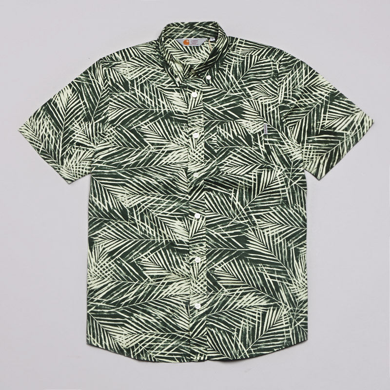 Carhartt Cayman Short Sleeve Shirt Palm Print Planet