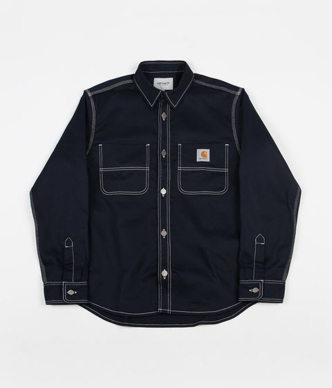 Carhartt Chalk Shirt Jacket - Dark Navy