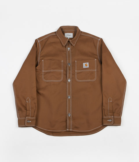 Carhartt Chalk Shirt Jacket - Hamilton Brown
