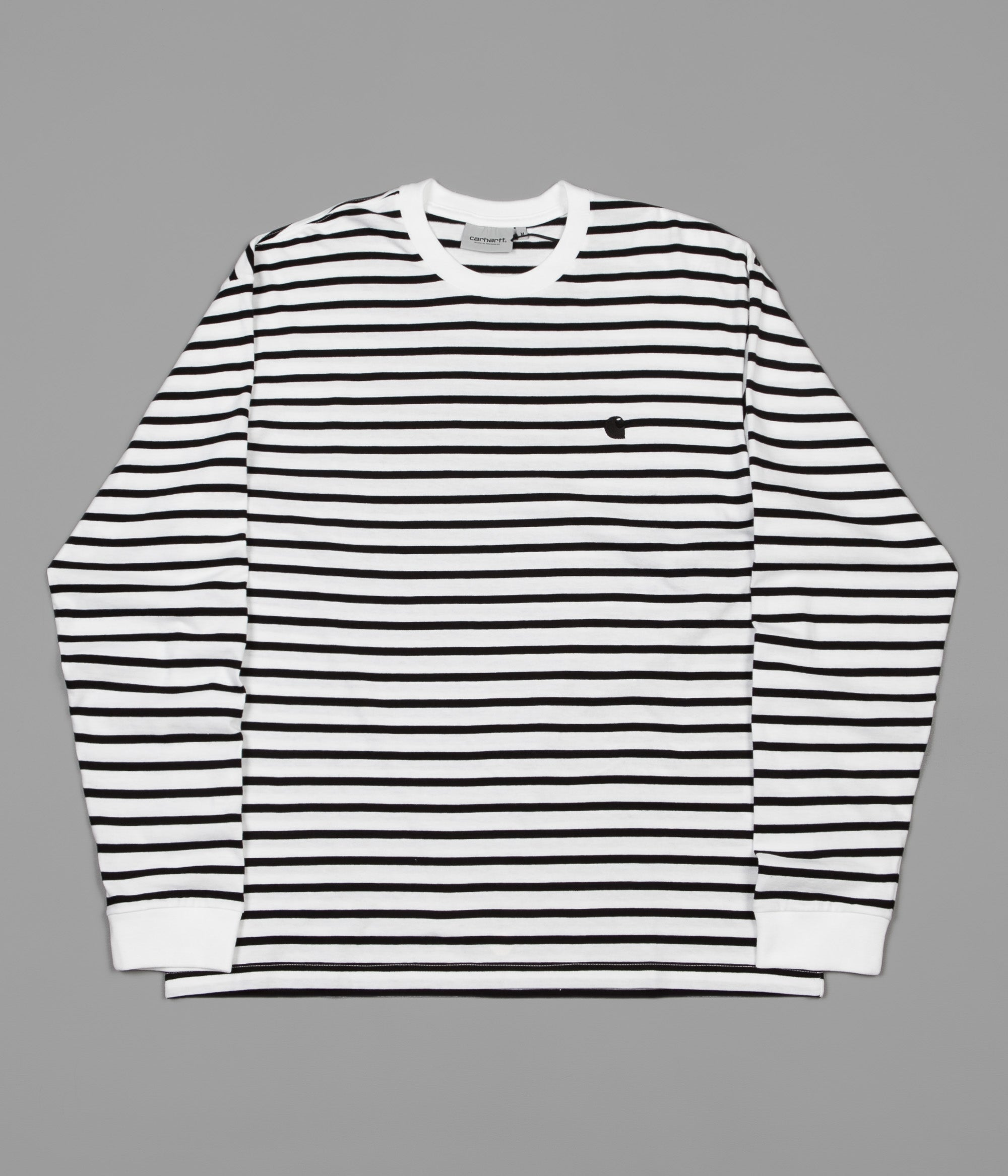 Carhartt Champ Long Sleeve T-Shirt - Black / White / Black