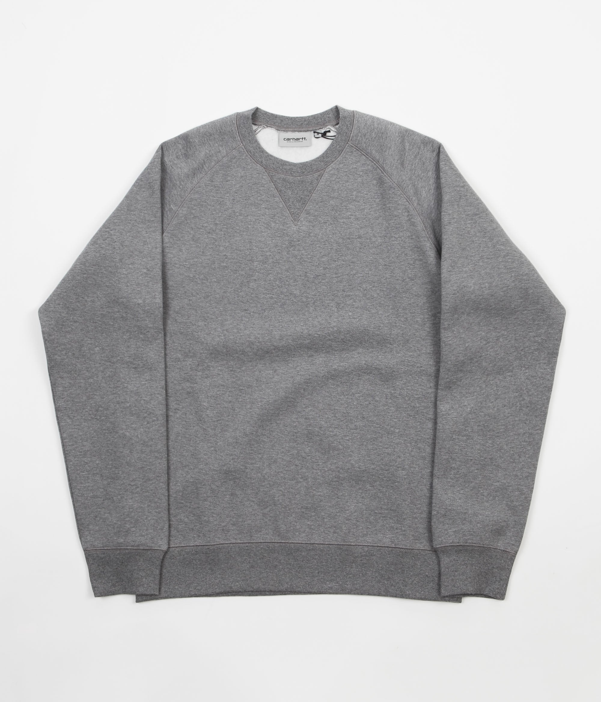 Carhartt Chase Crewneck Sweatshirt - Dark Grey Heather / Gold