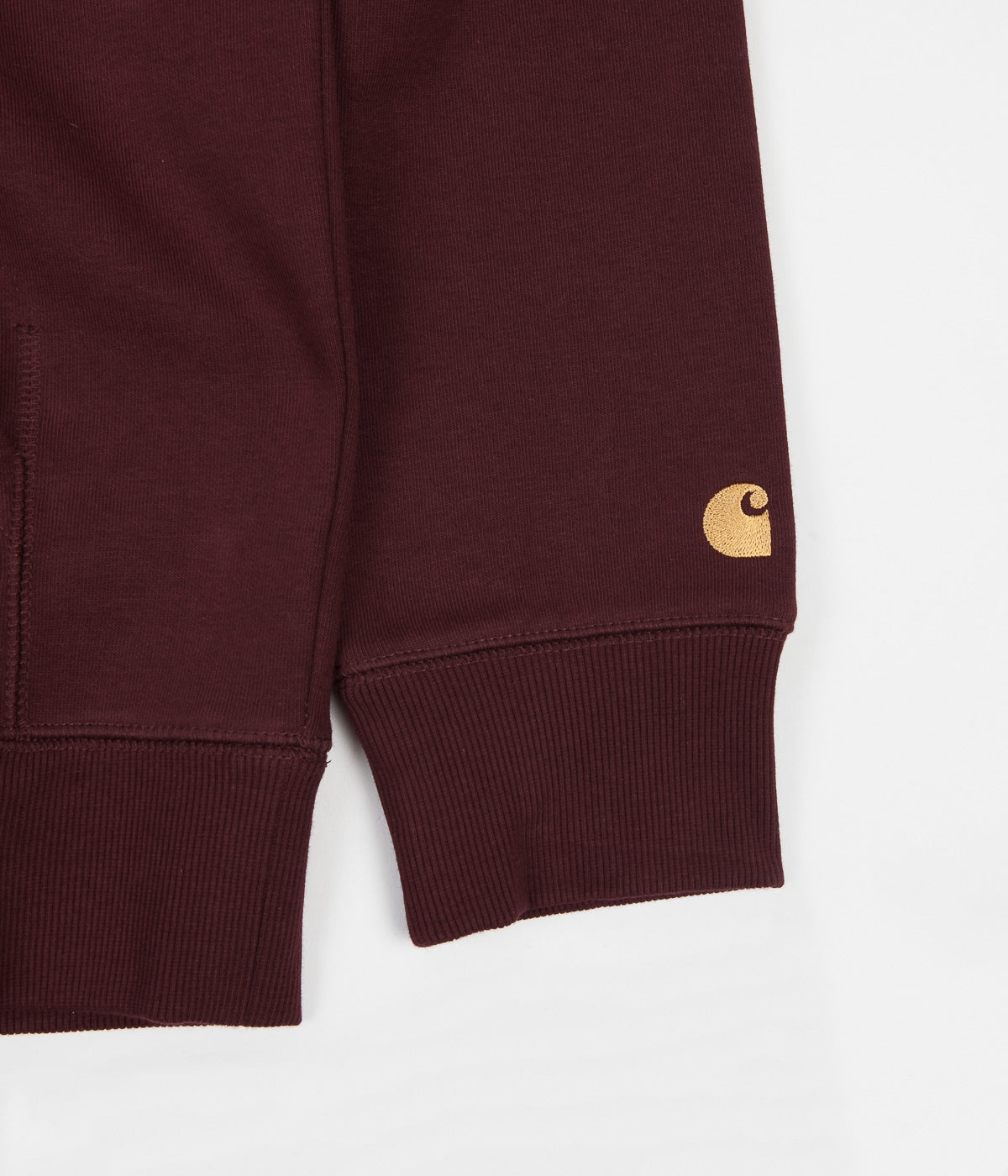 Carhartt Chase Hoodie - Bordeaux / Gold