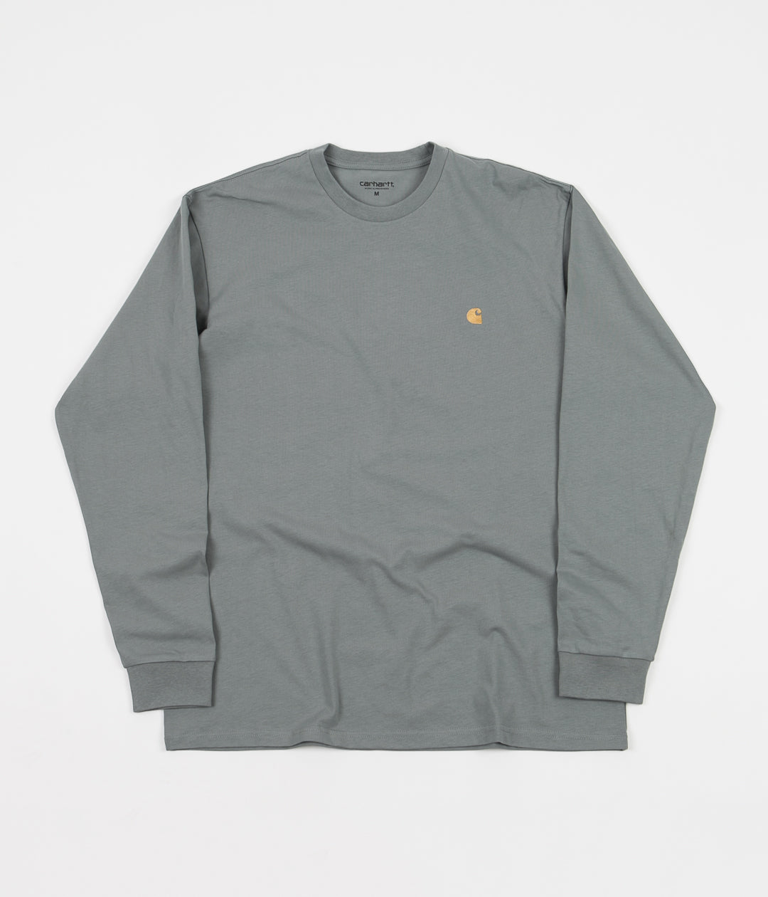 Carhartt Chase Long Sleeve T-Shirt - Cloudy / Gold