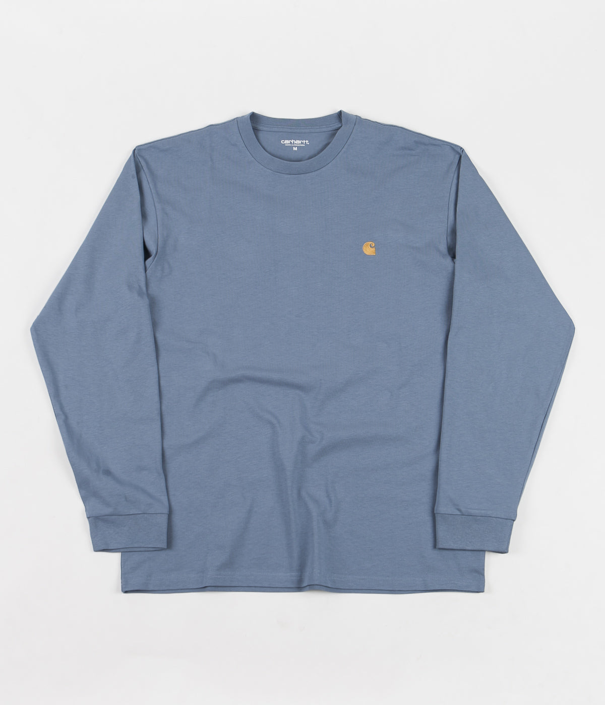 Carhartt Chase Long Sleeve T-Shirt - Mossa / Gold