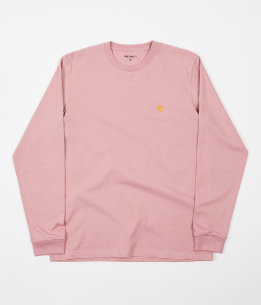 Carhartt Chase Long Sleeve T-Shirt - Rose / Gold