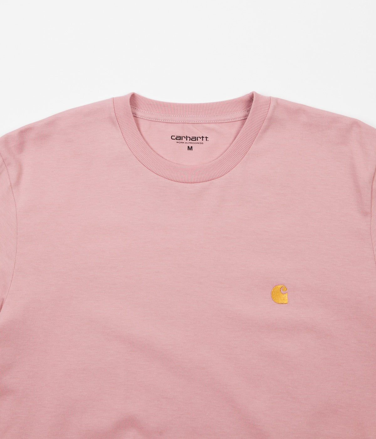 Carhartt Chase Long Sleeve T-Shirt - Soft Rose / Gold