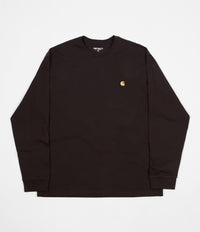 Carhartt Chase Long Sleeve T-Shirt - Tobacco / Gold