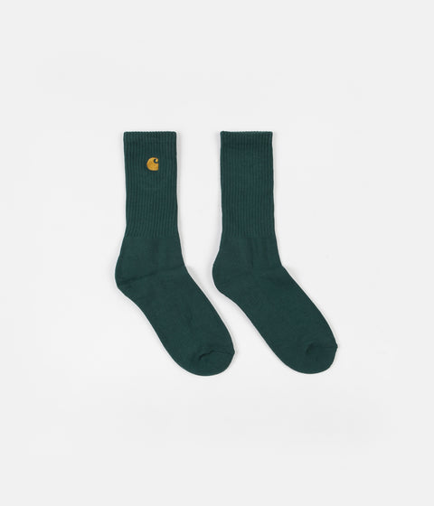 Carhartt Chase Socks - Dark Fir / Gold