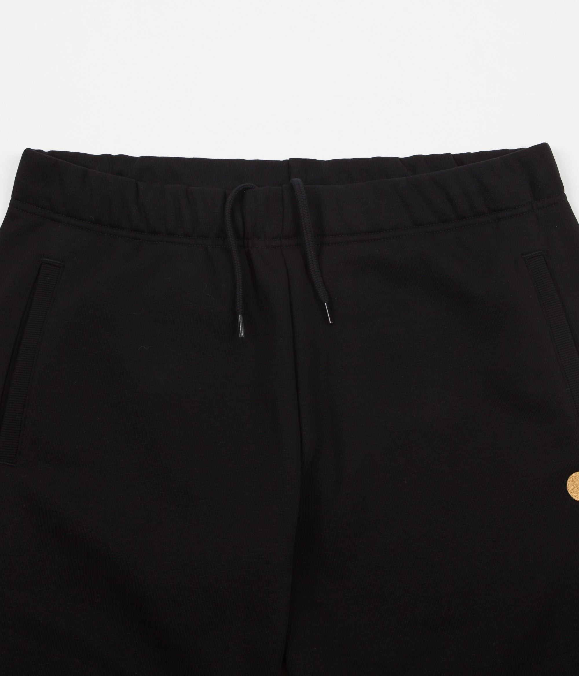 Carhartt Chase Sweat Shorts - Black / Gold