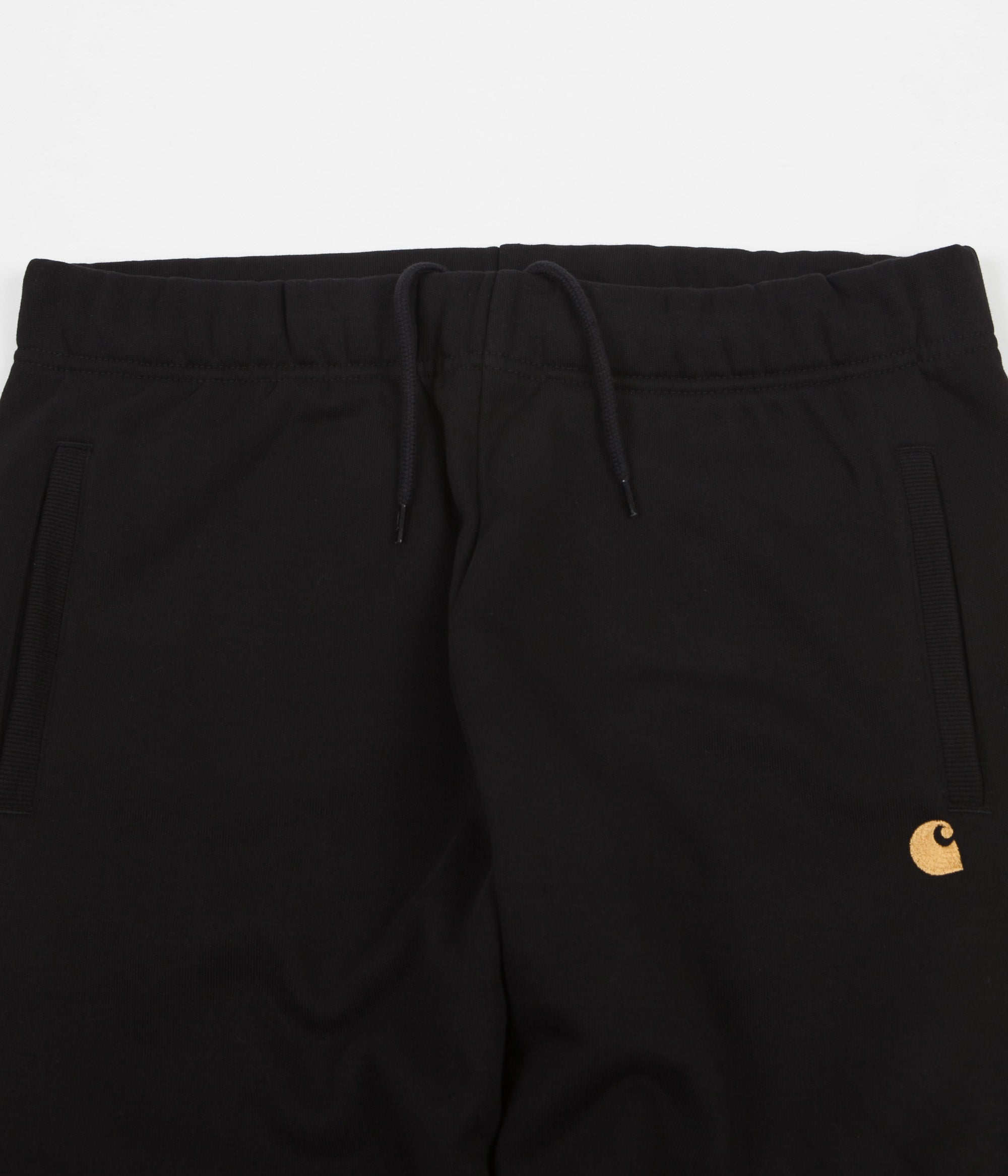 Carhartt Chase Sweatpants - Black / Gold
