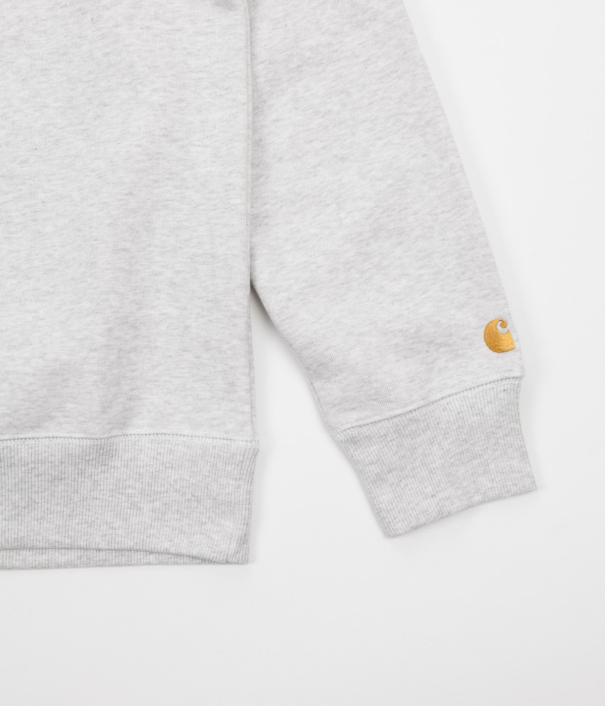 Carhartt Chase Crewneck Sweatshirt - Ash Heather / Gold