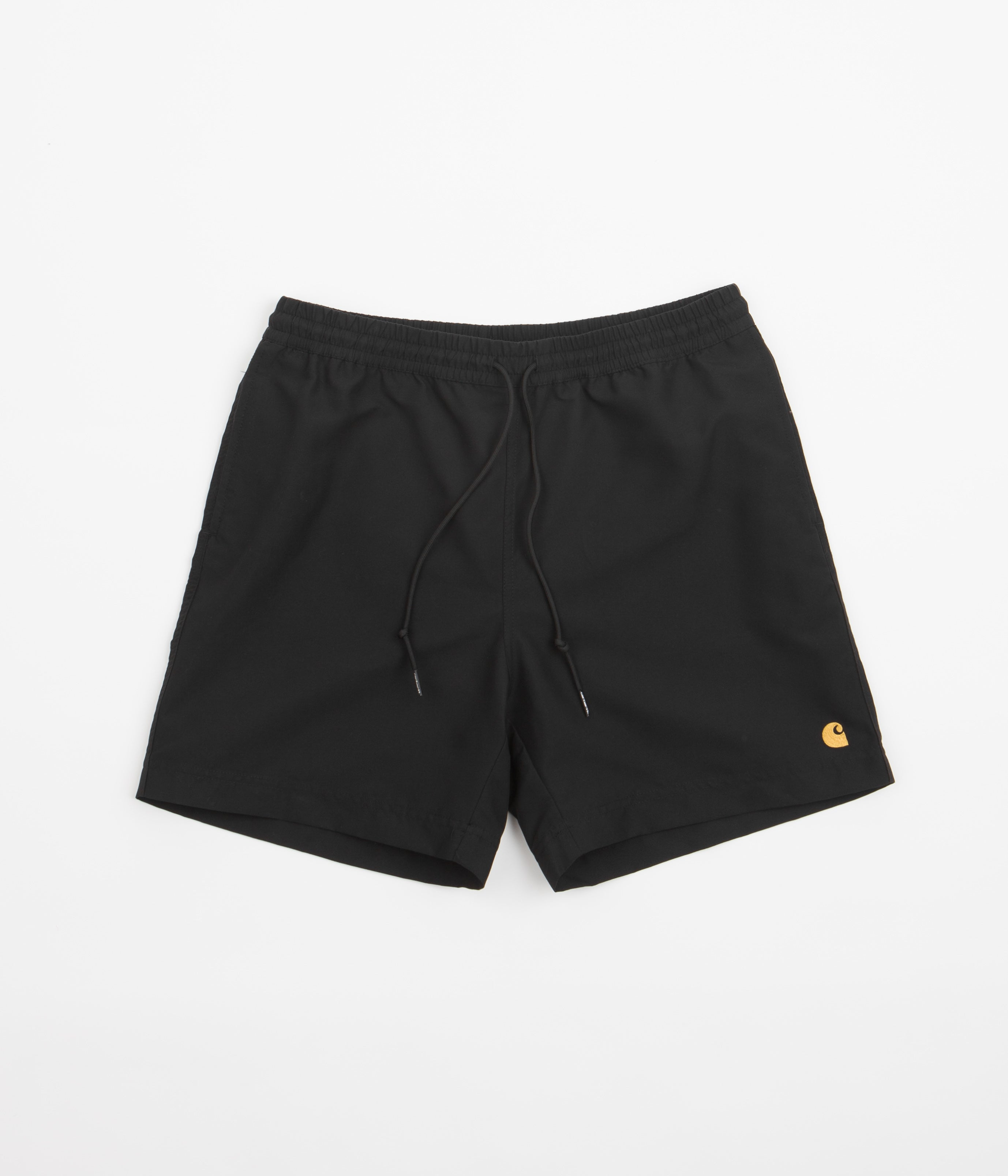 e55bd88f9f Carhartt Chase Swim Trunks - Black / Gold | Flatspot