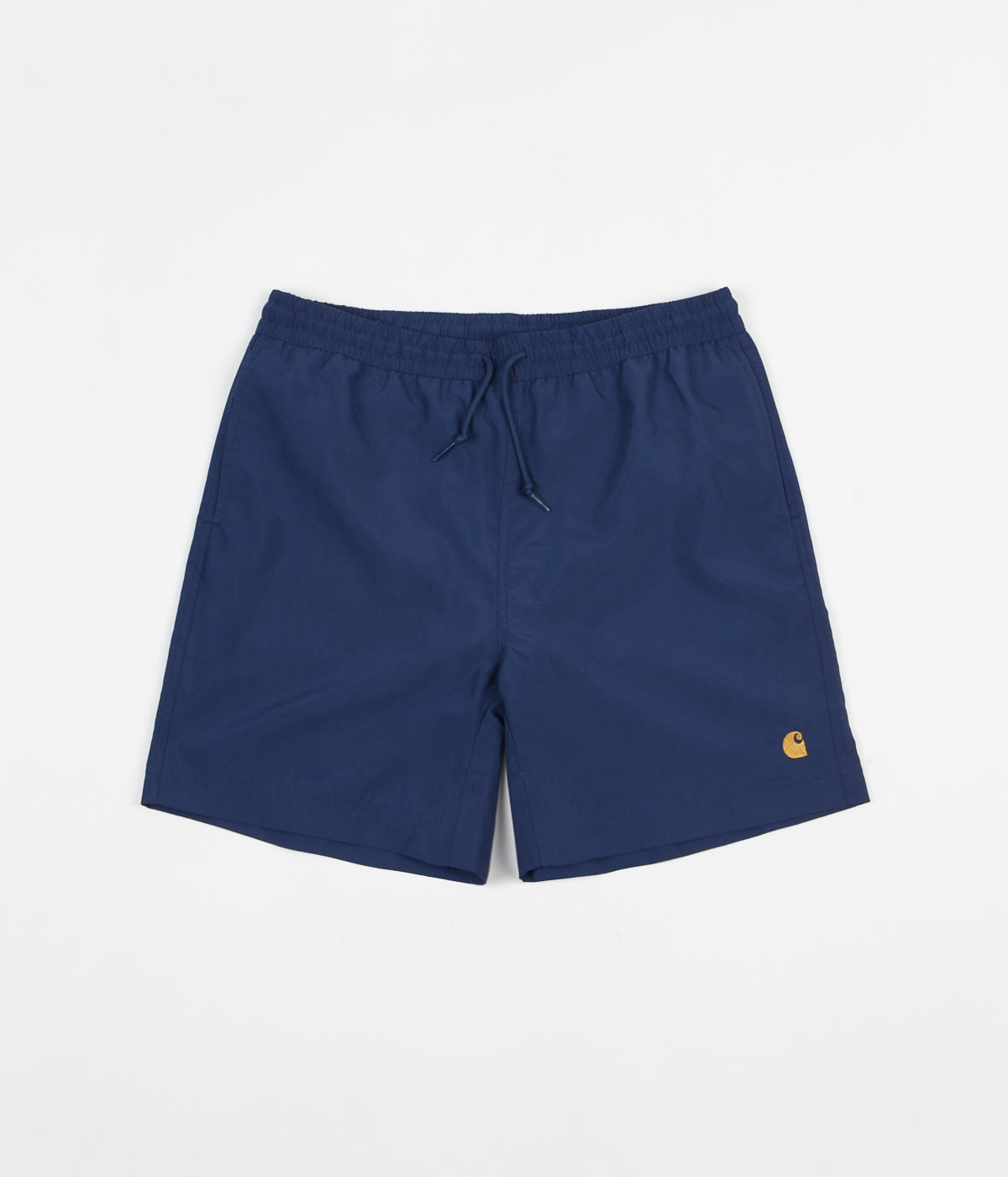a01fb5185c Carhartt Chase Swim Trunks - Metro Blue / Gold | Flatspot