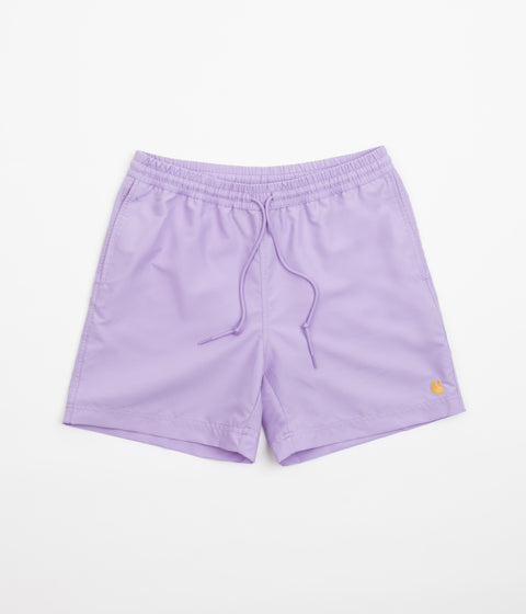 Carhartt Chase Swim Trunks - Soft Lavender / Gold