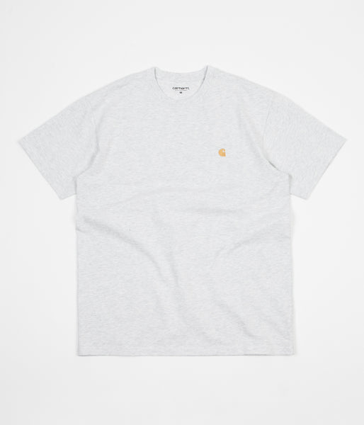 Carhartt Chase T-Shirt - Ash Heather / Gold