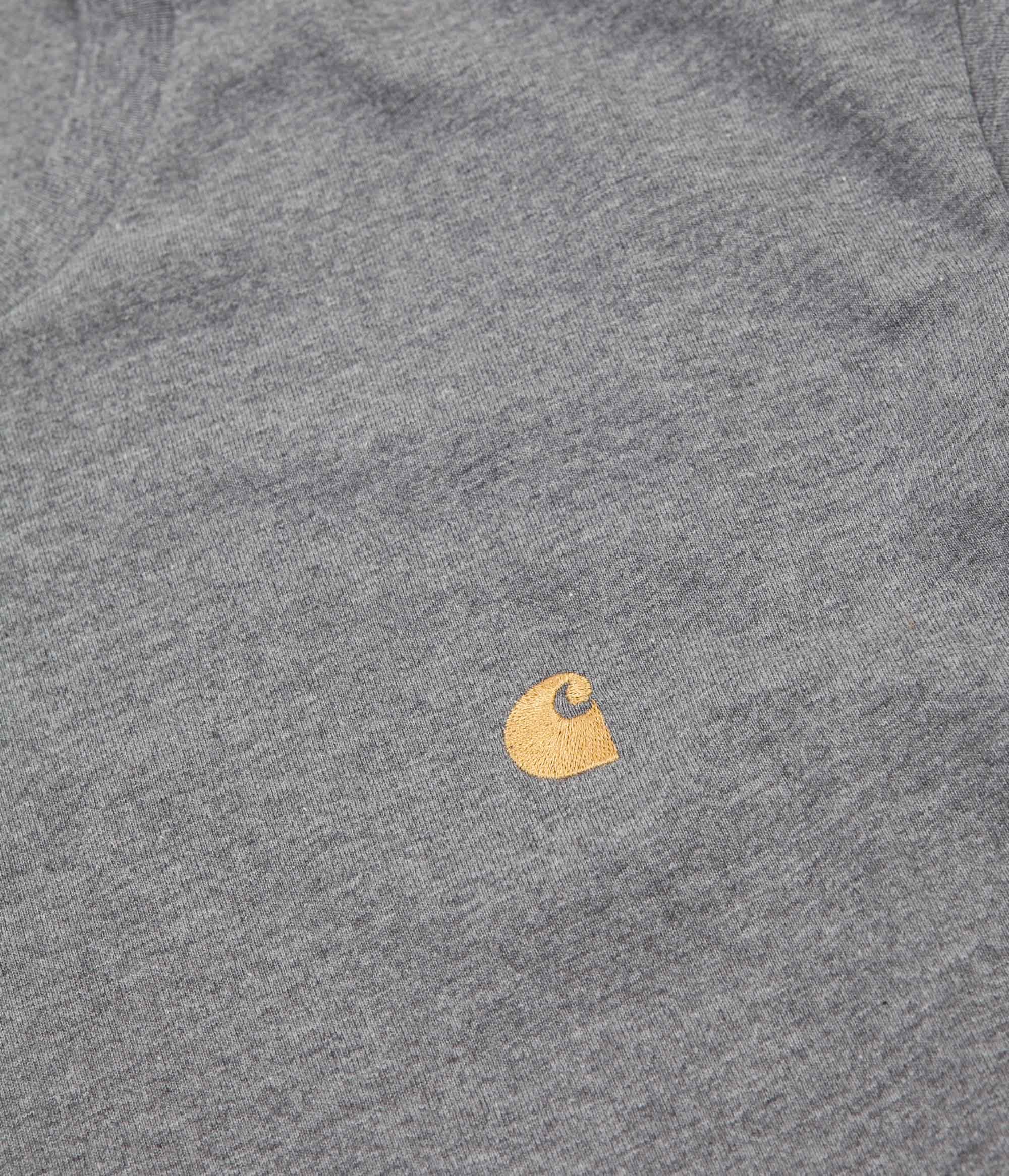 Carhartt Chase T-Shirt - Dark Grey Heather / Gold