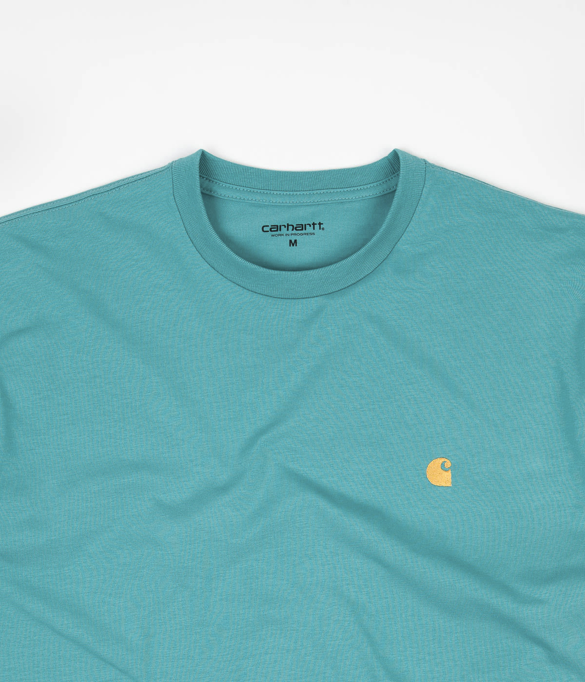 Carhartt Chase T-Shirt - Frosted Turquoise / Gold