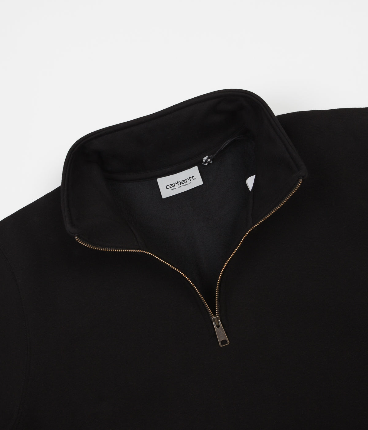 Carhartt Chase Zip Neck Sweatshirt - Black / Gold