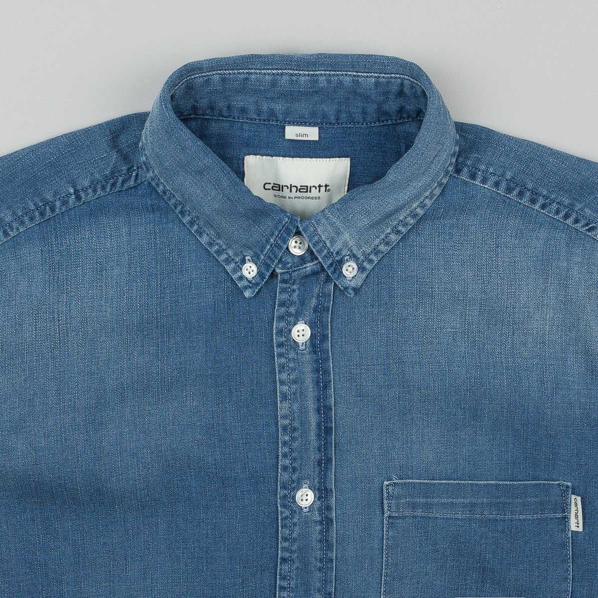 Carhartt Civil Denim Long Sleeve Shirt - Blue (Fidelity Washed)
