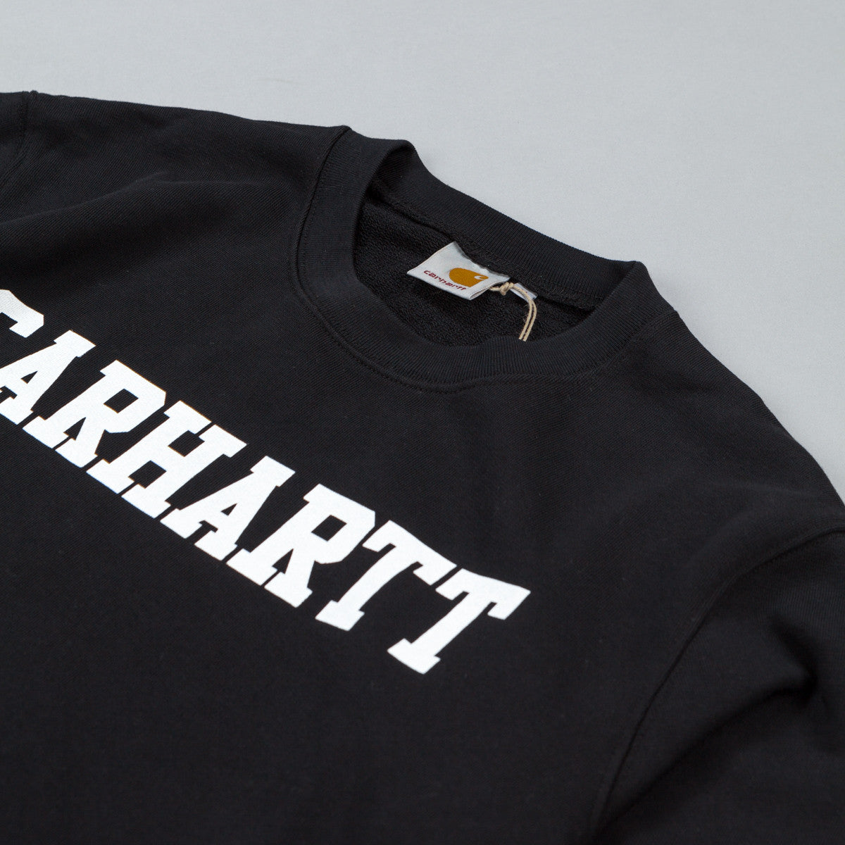 Carhartt College Crew Neck Sweatshirt - Black