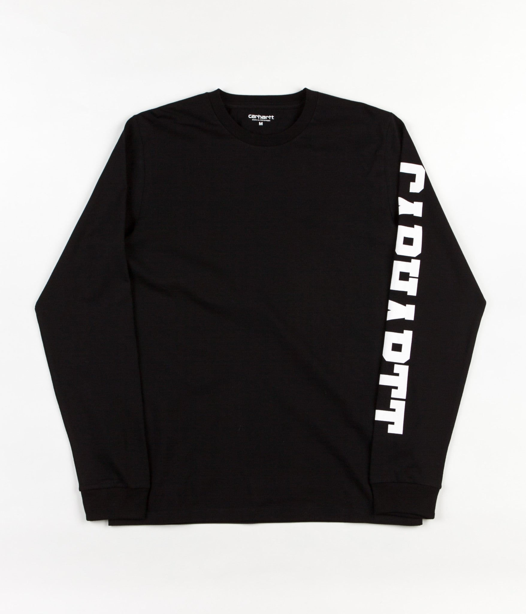 Carhartt College Left Long Sleeve T-Shirt - Black / White