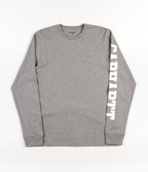 Carhartt College Left Long Sleeve T-Shirt - Grey Heather / White