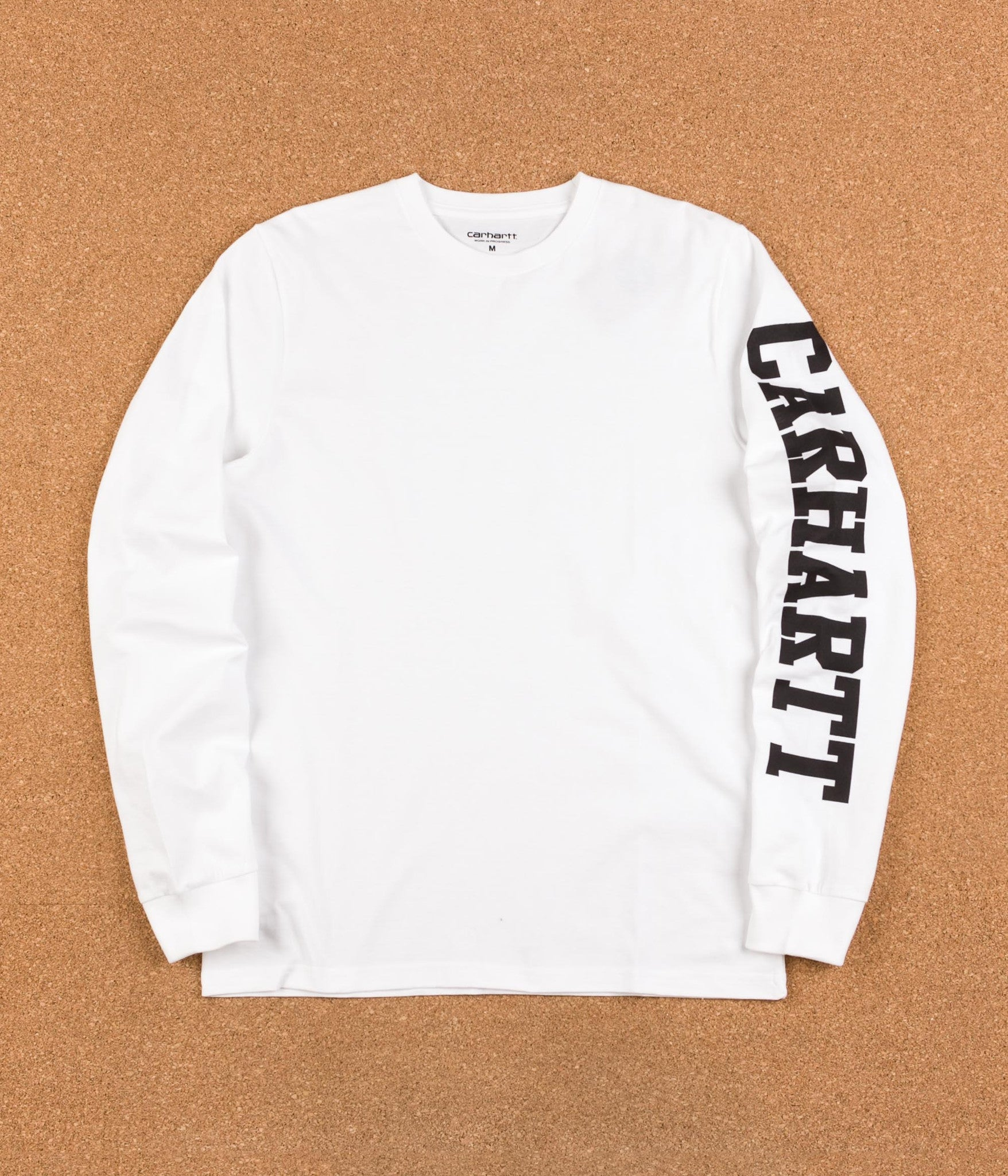 Carhartt college left long sleeve t shirt white black for Carhartt long sleeve t shirts white