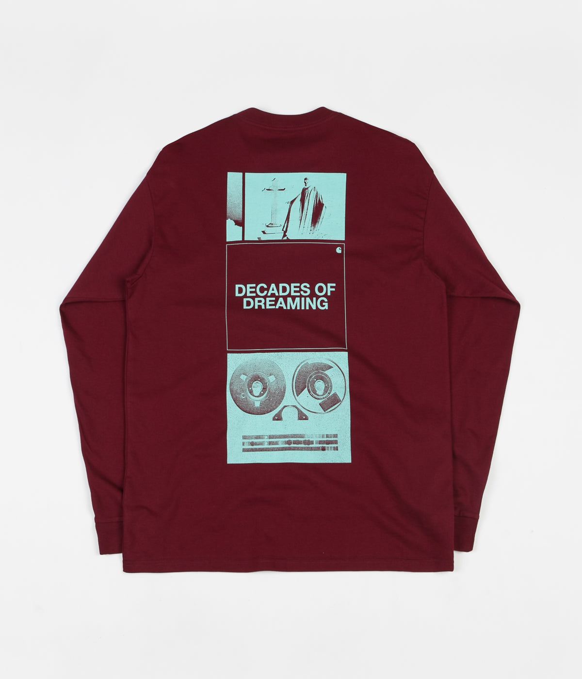 Carhartt Dreaming Long Sleeve T-Shirt - Cranberry / White Yucca