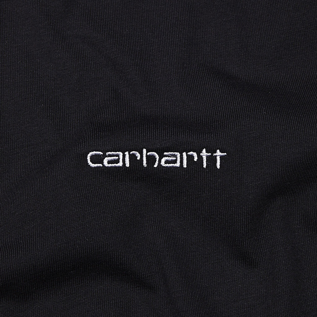 Carhartt Embroidery T Shirt Black / White