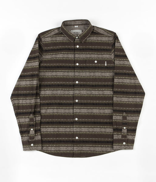 Carhartt Ethnic Long Sleeve Shirt - Green