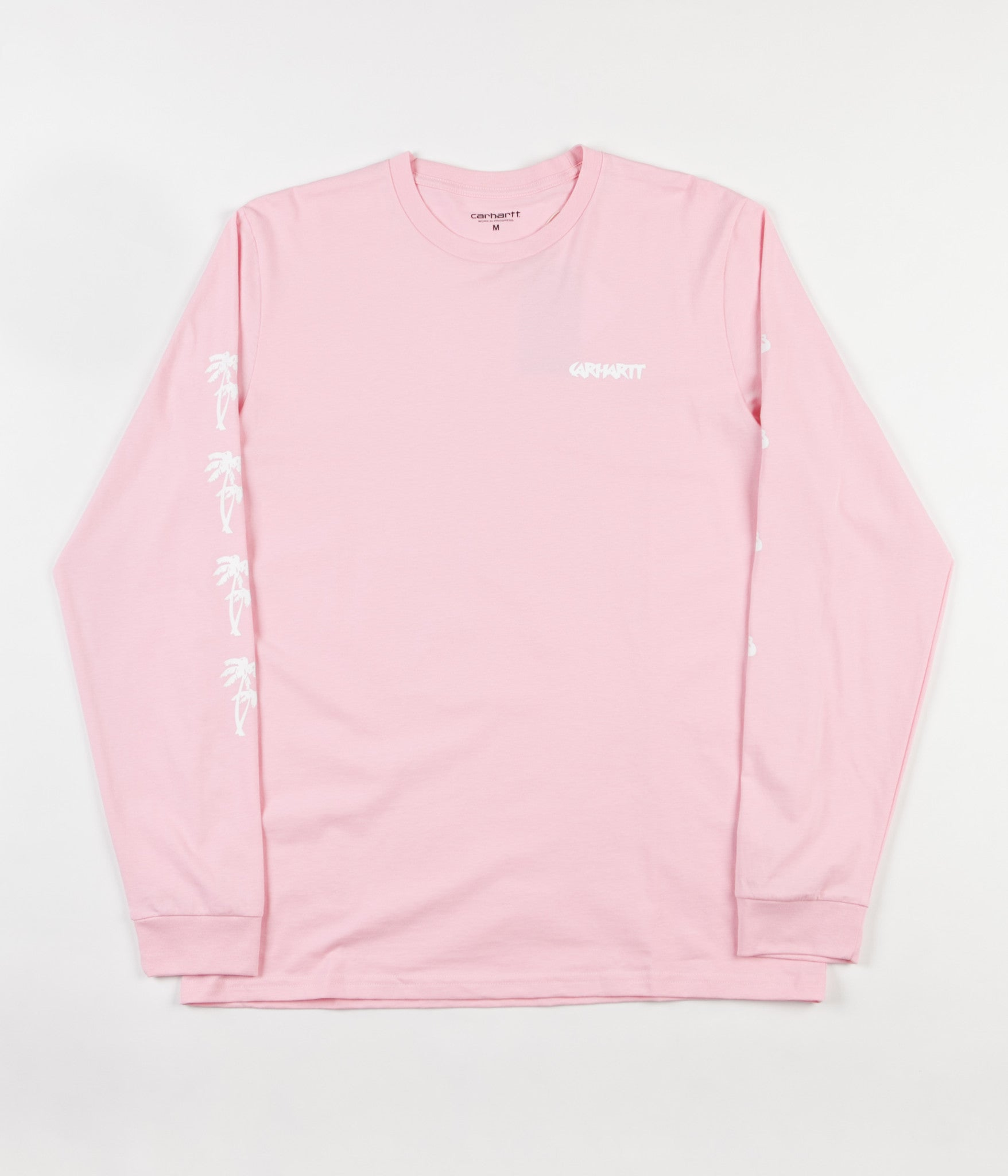 Carhartt Flamingo Script Long Sleeve T-Shirt - Vegas Pink / White