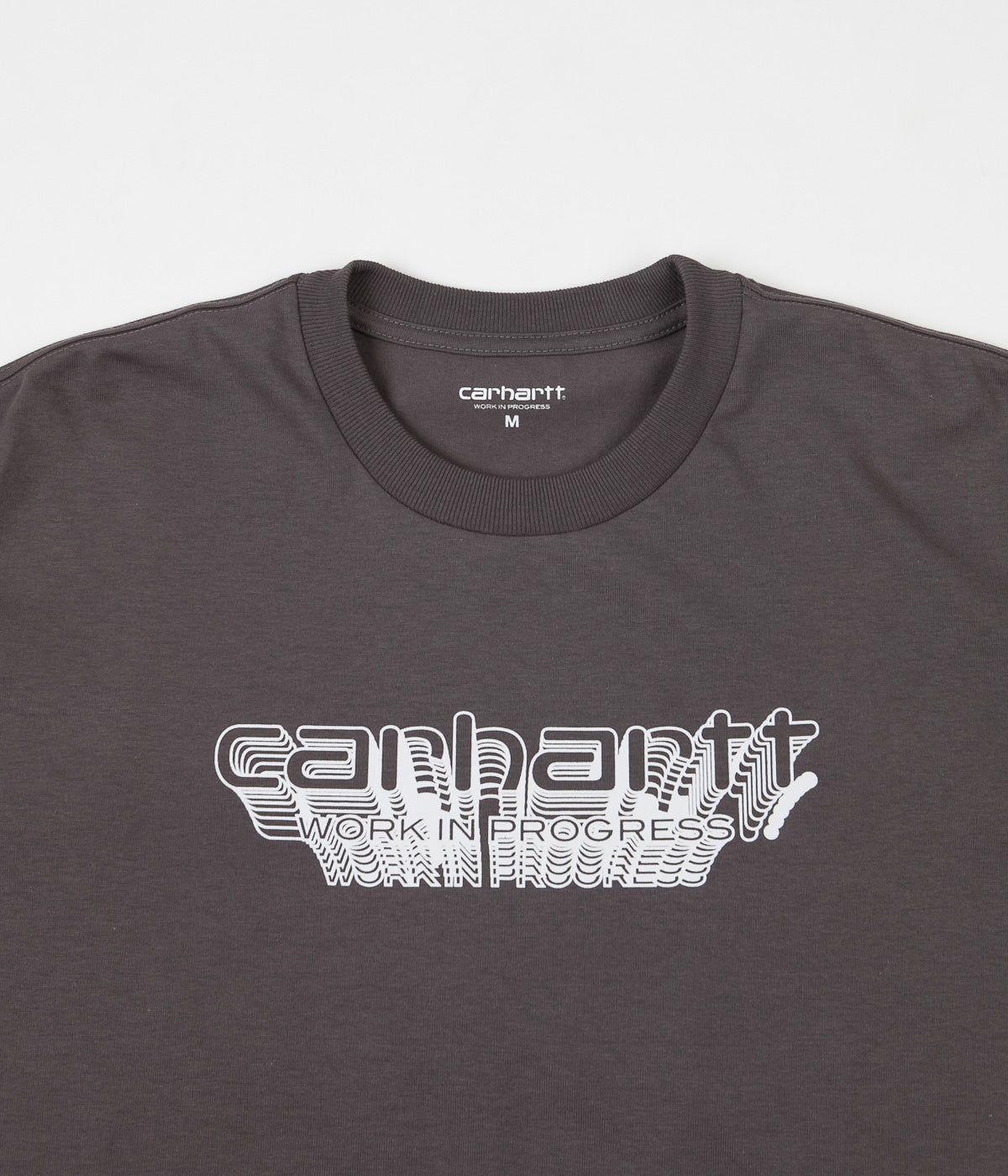 Carhartt Framework Long Sleeve T-Shirt - Air Force Grey / White