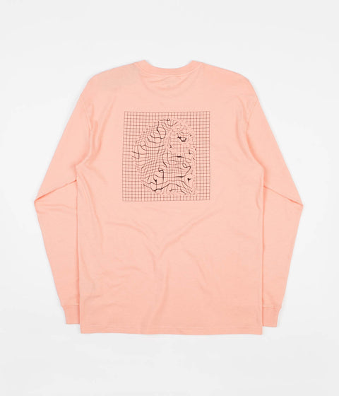 Carhartt Grid C Long Sleeve T-Shirt - Peach / Black