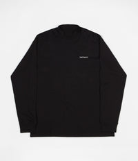 Carhartt Highneck Script Embroidered Long Sleeve T-Shirt - Black / White