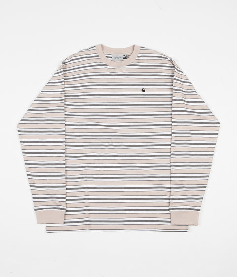 Carhartt Huron Long Sleeve T-Shirt - Boulder / Black Stripe