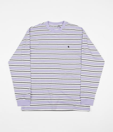 Carhartt Huron Long Sleeve T-Shirt - Soft Lavender Stripe