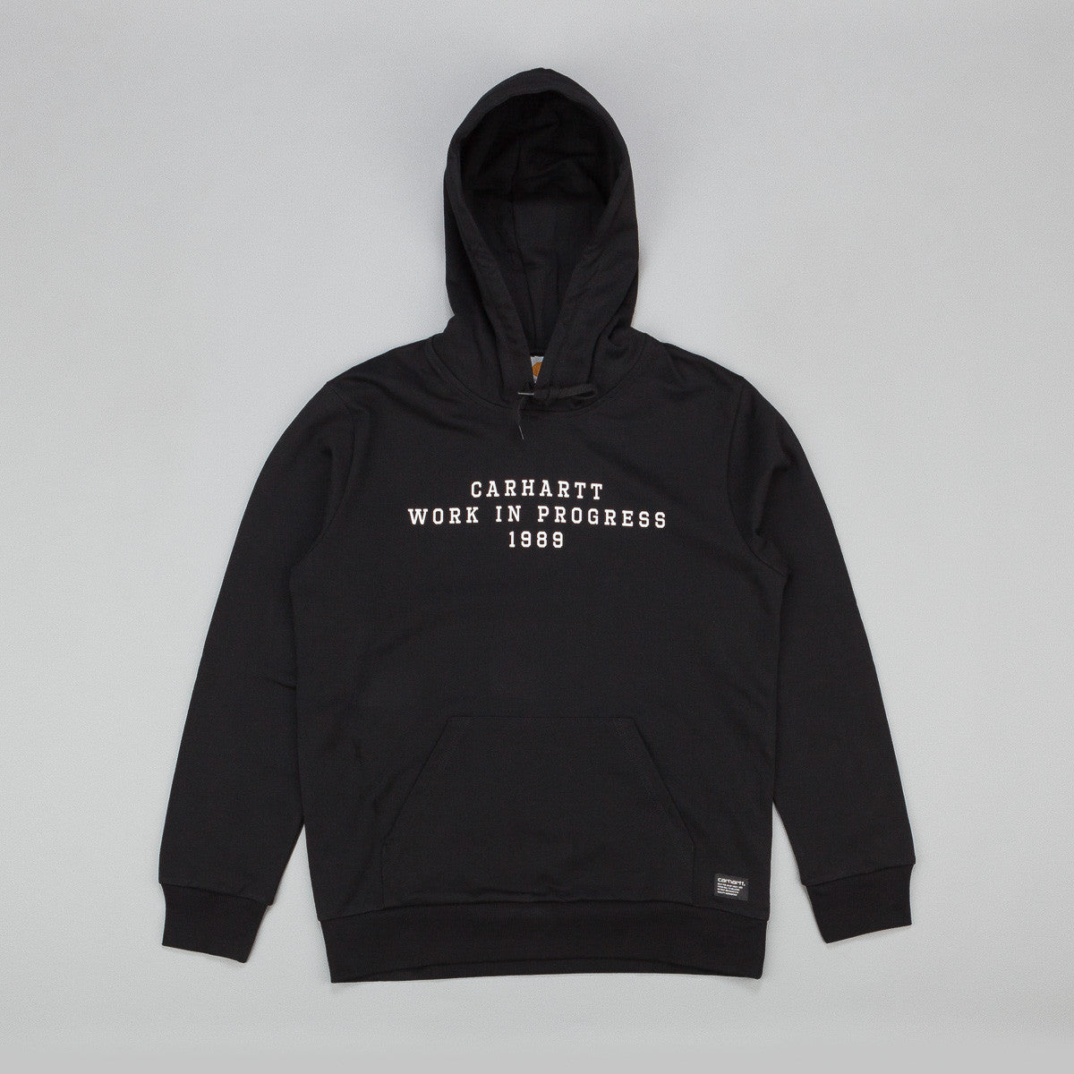 Carhartt Imprint Hooded Sweatshirt - Black / White