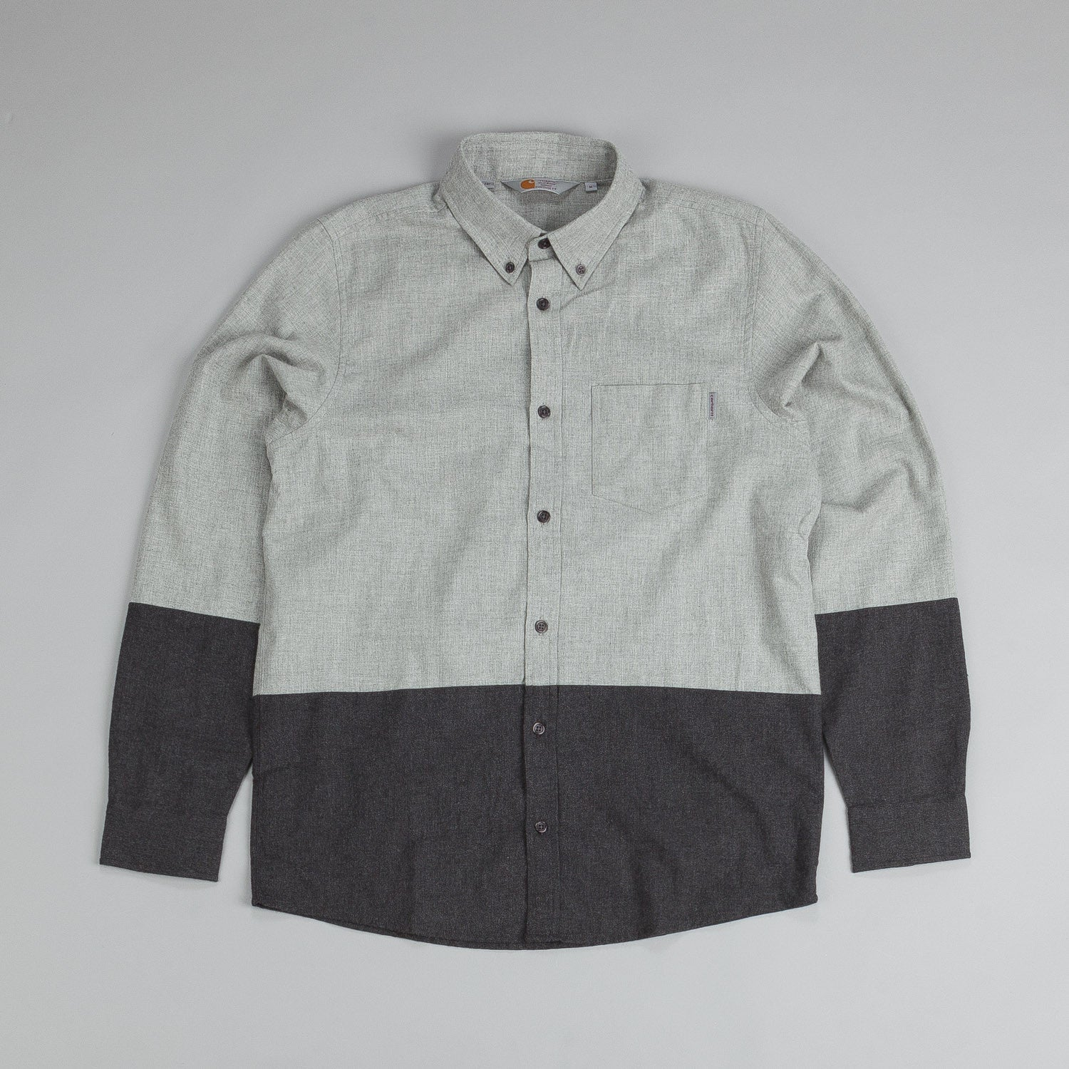 Carhartt Long Sleeve Allen Shirt Grey Heather / Black Heather