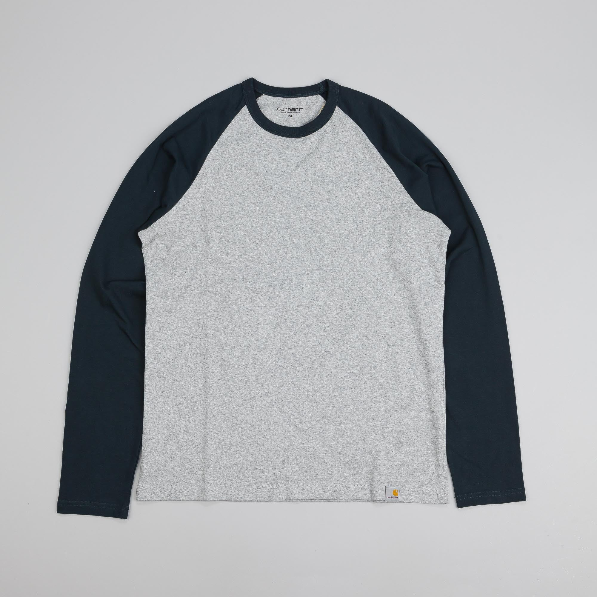 Carhartt Long Sleeve Dodgers T Shirt Grey Heather / Dark Petrol