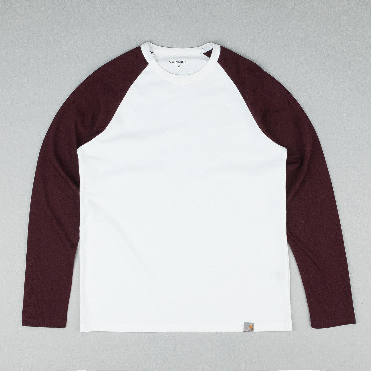 Carhartt Long Sleeve Dodgers T Shirt White / Damson