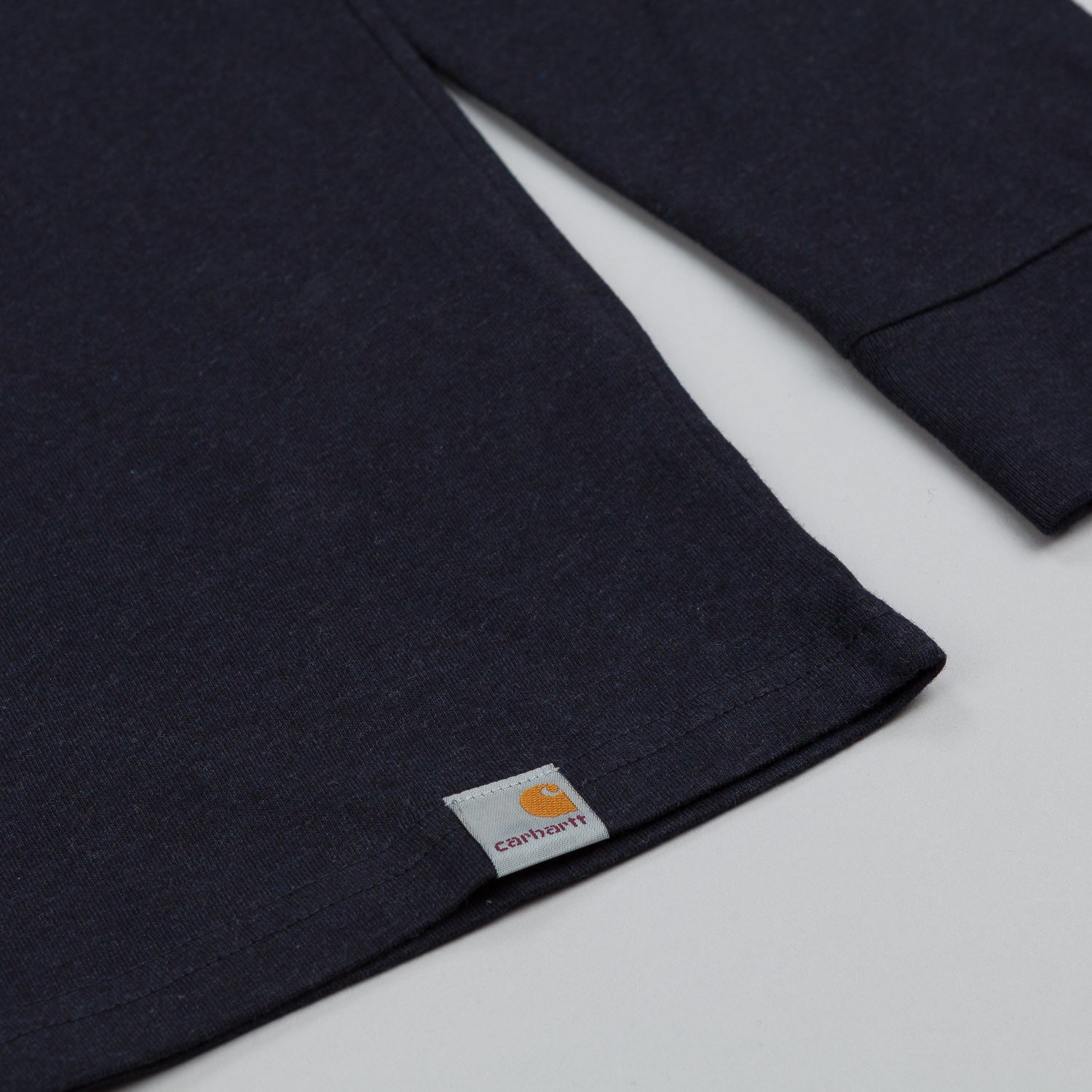 Carhartt Long Sleeve Henley T shirt Jet Heather