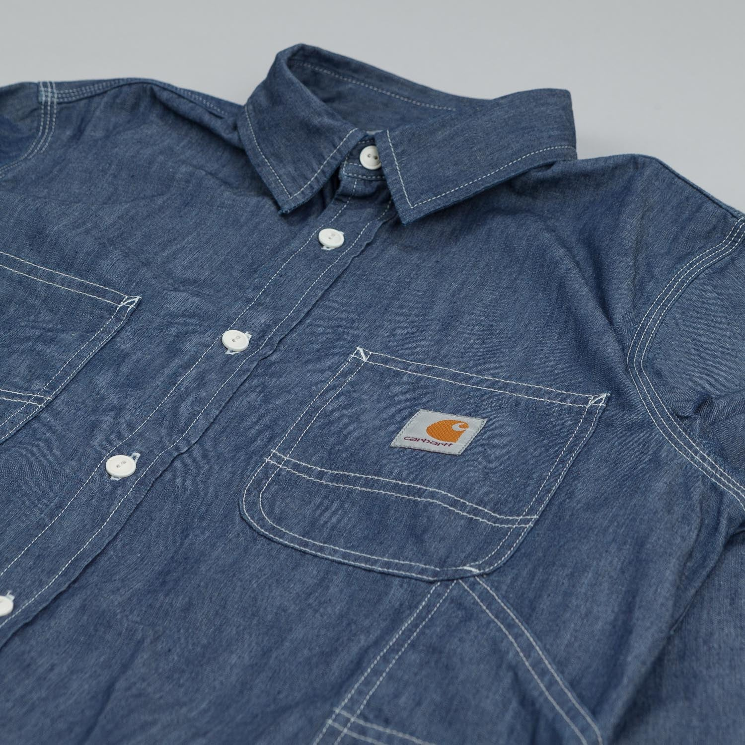 Carhartt Long Sleeve Motor Shirt Blue Rinsed