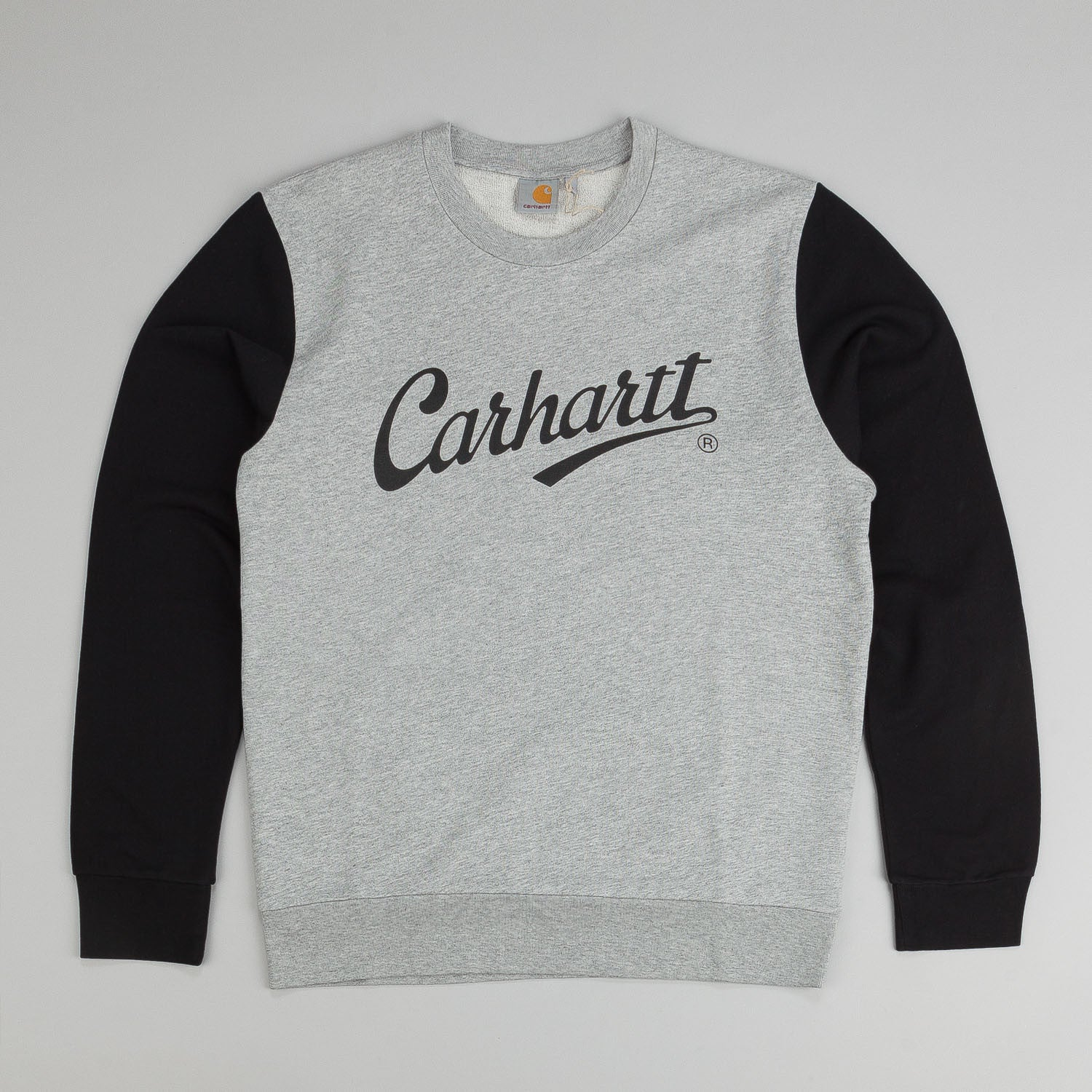 Carhartt League Crew Neck Sweatshirt - Grey Heather / Black